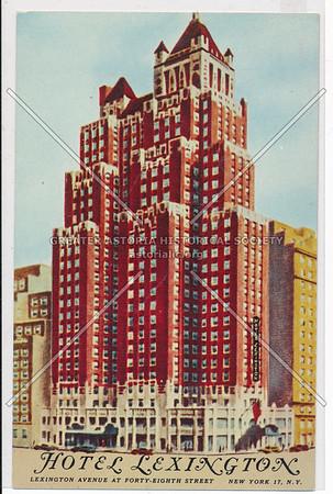 Hotel Lexington, Lexington Avenue at Forty-Eighth Street New York 17, N.Y.
