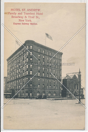 Hotel St. Andrew, Family and Transient Hotel, Broadway & 72nd St., New York