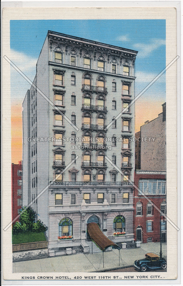 Kings Crown Hotel, 420 West 116th., New York City