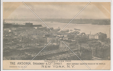 The Ansonia, Southward View From Broadway & 73rd Street, New York, N.Y.