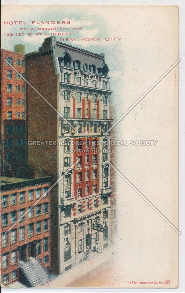 Hotel Flanders, 133-137 W. 47th St, NYC