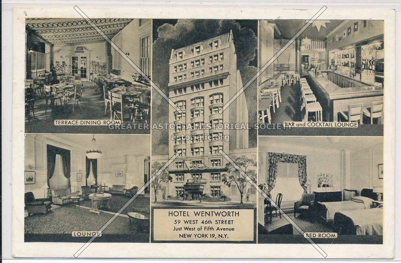 Hotel Wentworth, 59 W 46th St., Just West of 5th Avenue, NYC