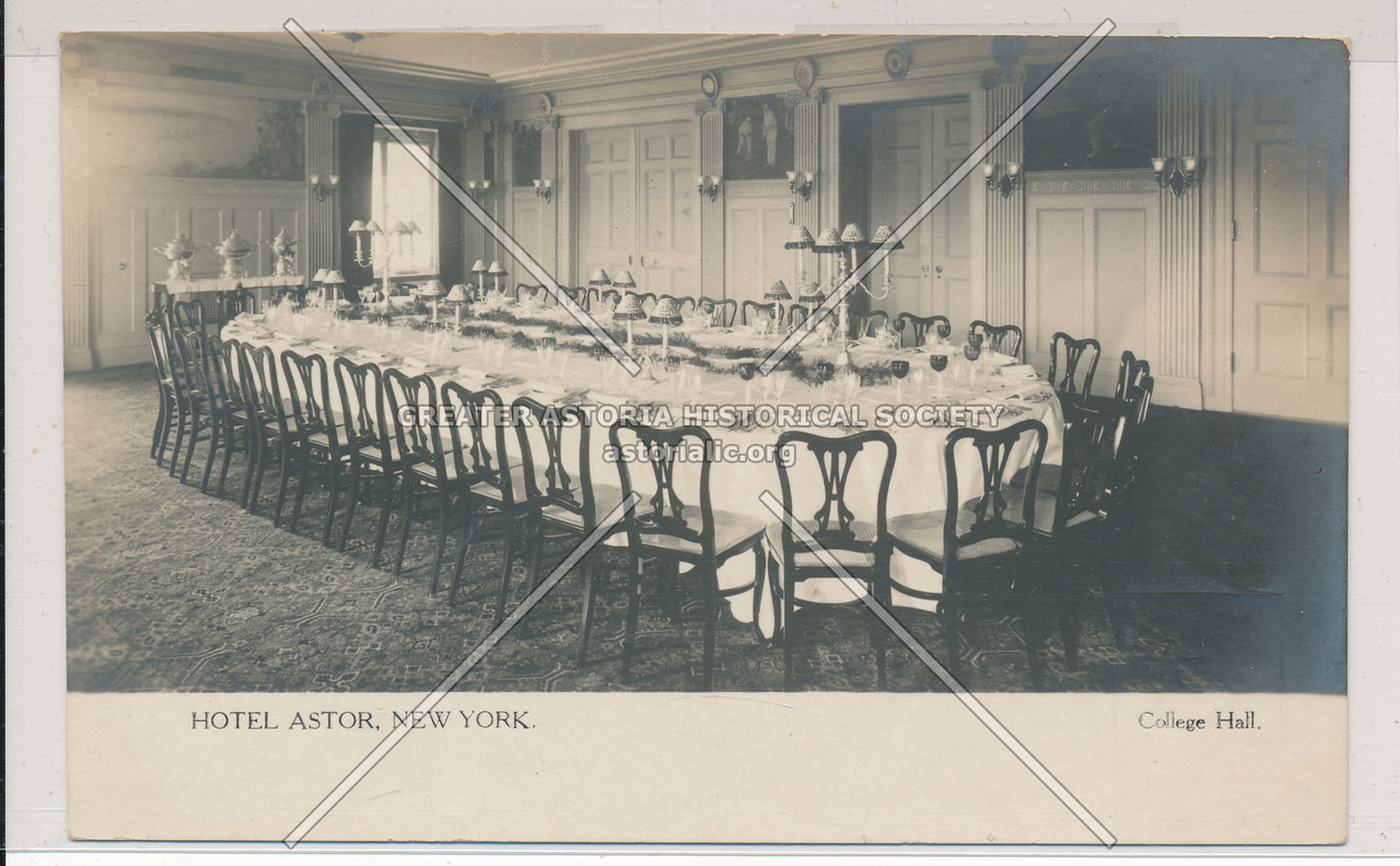 Hotel Astor, NYC, College Hall