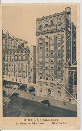 Hotel Narragansett, Broadway and 94th Street, New York