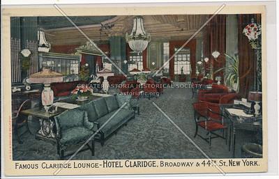 Famous Claridge Lounge at Hotel Claridge, Broadway & 44th St., New York City