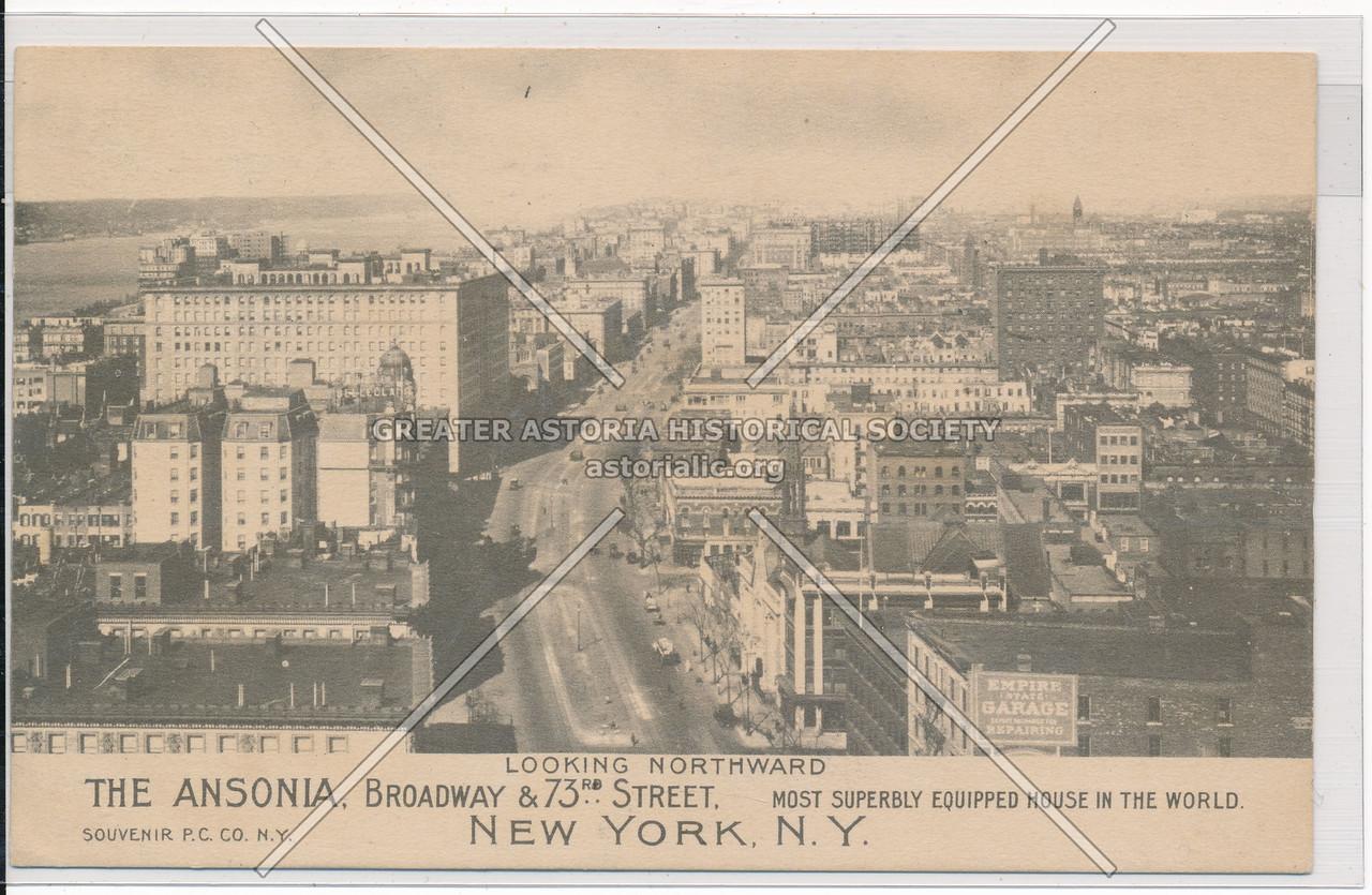 The Ansonia, Looking Northward, Broadway & 73rd Street, New York, N.Y.