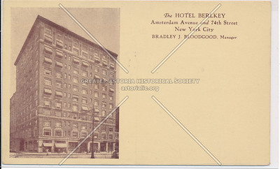 The Hotel Berlkey, Amsterdam Avenue and 74th Street, New York City
