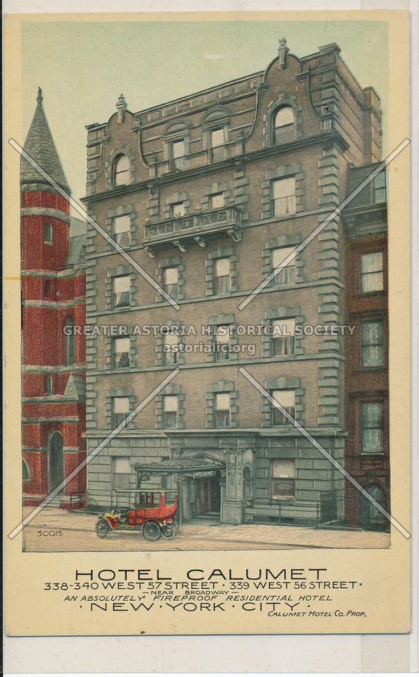 Hotel Calumet, 338-340 West 57 Street, 339 West 36 Street, New York City
