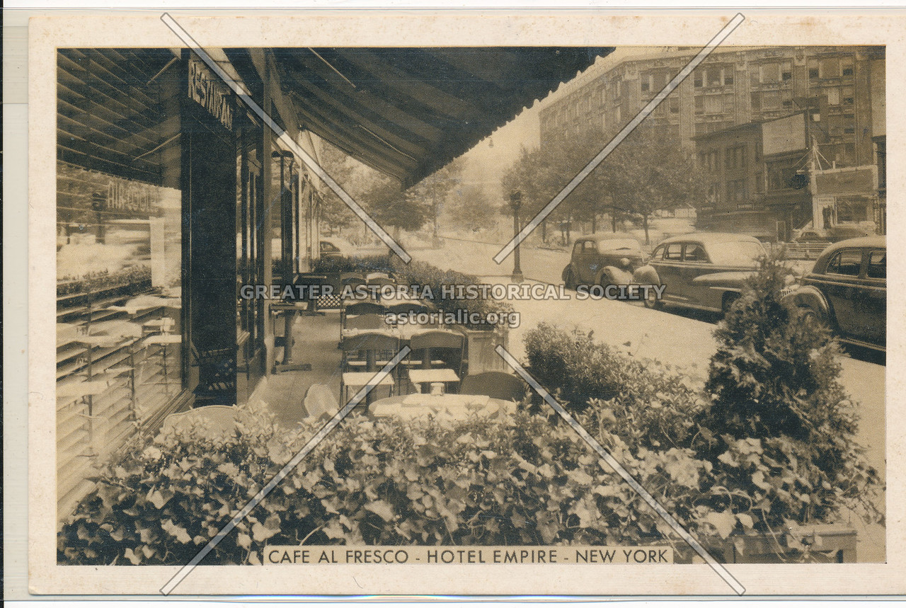 Cafe Al Fresco- Hotel Empire- New York