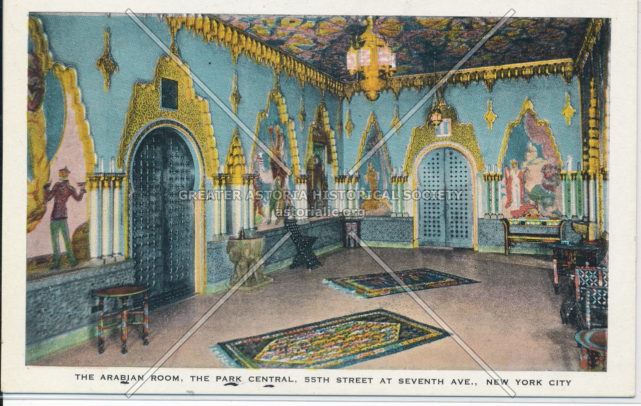 The Arabian Room, The Park Central, 55th Street At Seventh Ave., NYC