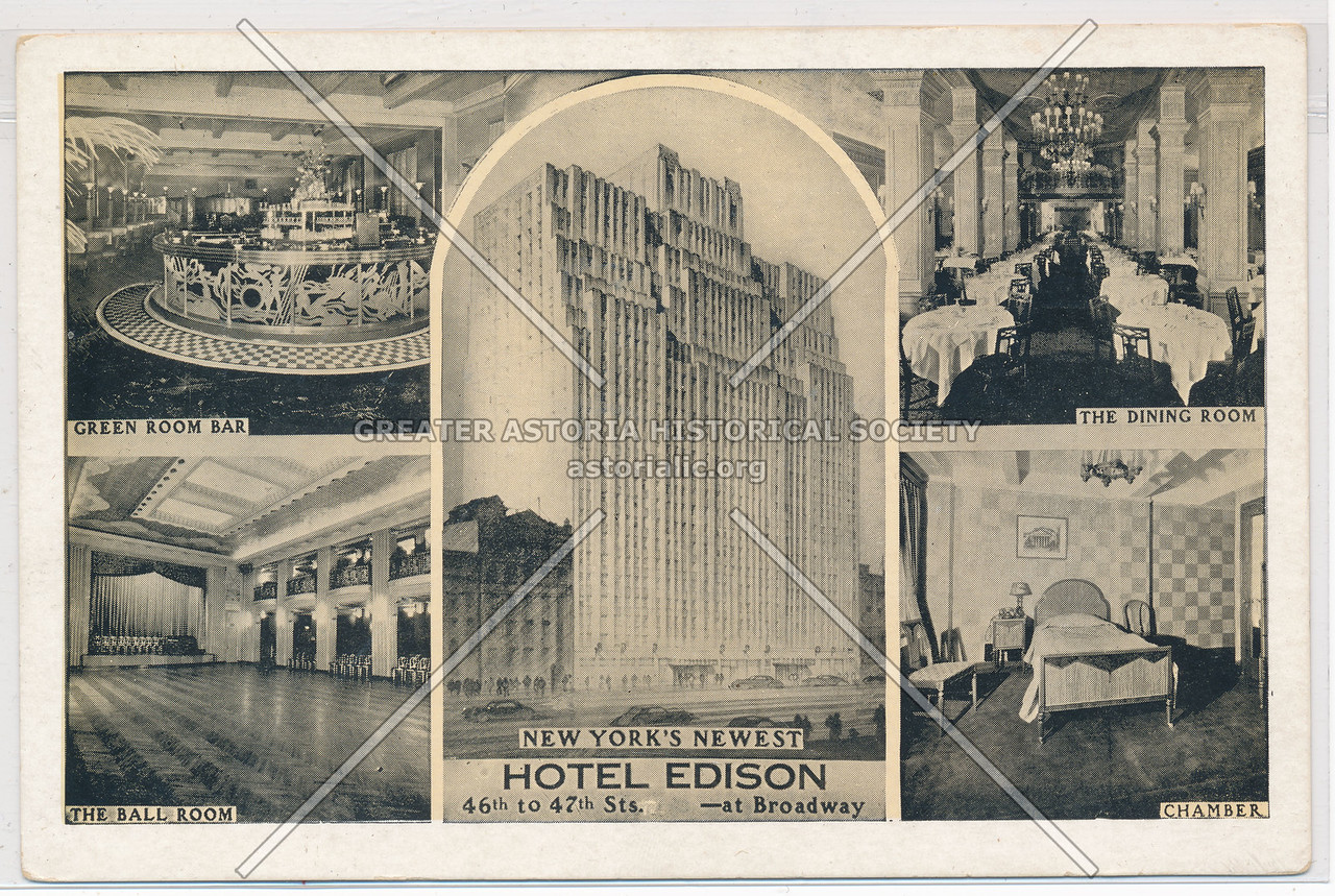 Hotel Edison, 46th to 47th Sts, at Broadway, NYC