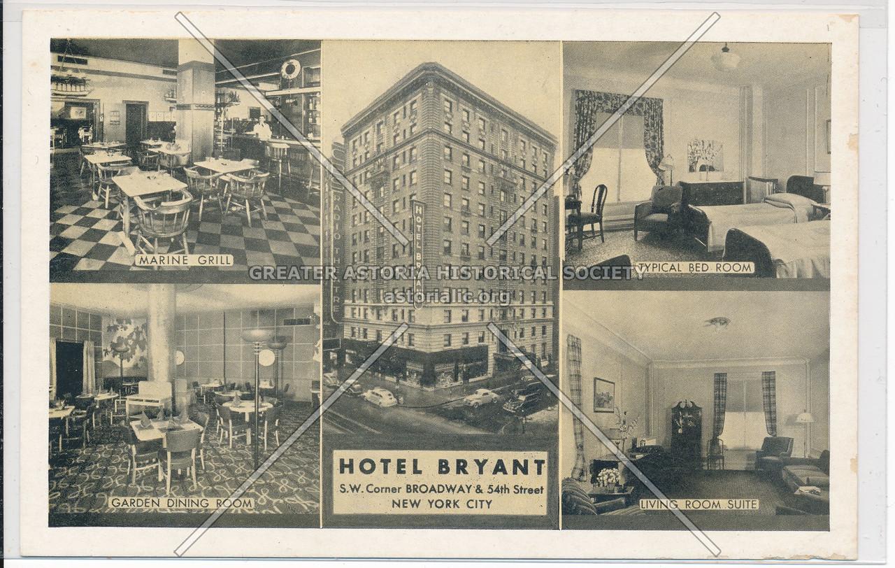 Hotel Bryant, S.W. Center Broadway & 54th Street, New York City