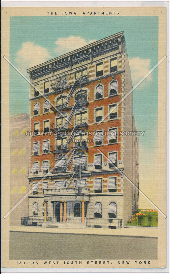 The Iowa Apartments, 133-135 West 104th Street, New York