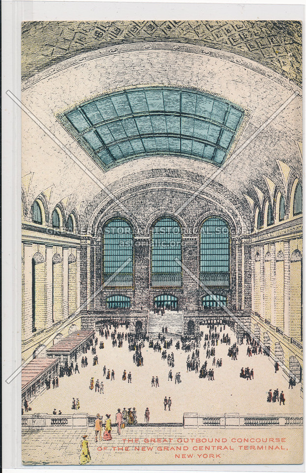 The Great Outbound Concourse of the New Grand Central Terminal, NYC