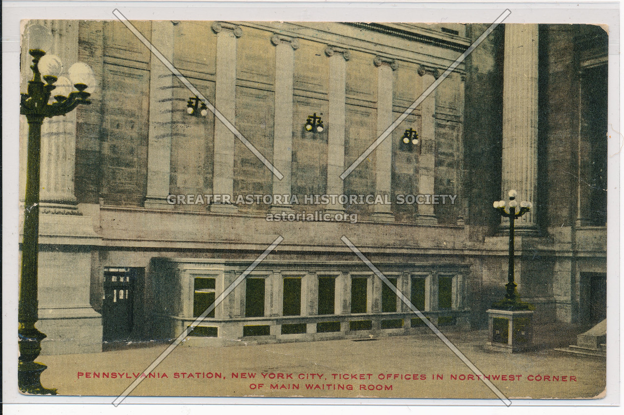 Ticket Offices in Northwest Corner of Main Waiting Room, Pennsylvania Station, NYC
