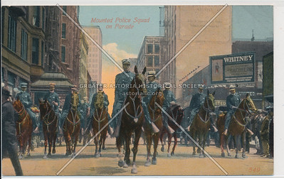 Mounted Police Squad on Parade, New York City