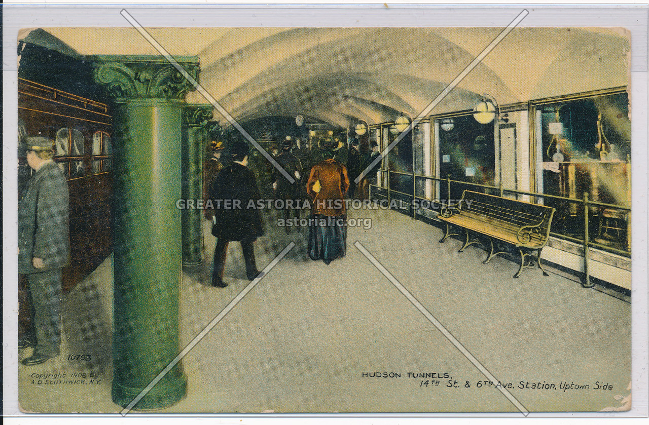 Hudson Tunnels, 14th Street and 6th Avenue Station, Uptown Side, NYC