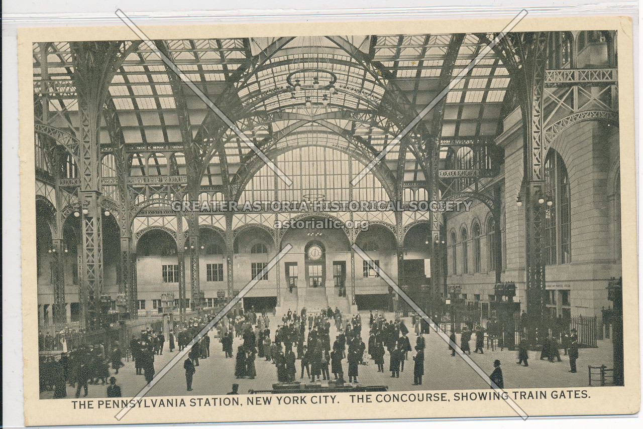 The Concourse, Showing Train Gates, at Pennsylvania Station, NYC