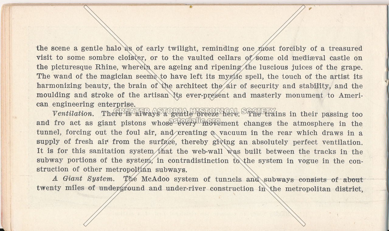 McAdoo System Pamphlet and Ventillation