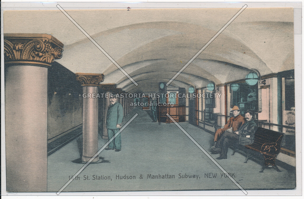 14th Street, Hudson and Manhattan Subway, NYC