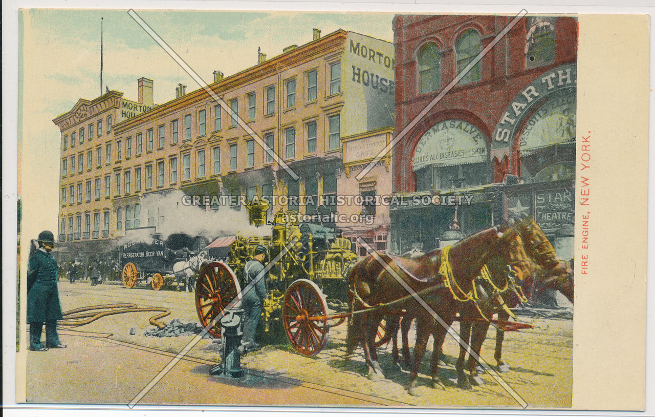 Horse-Drawn Fire Engine, New York City