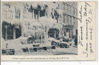 Fire: January 18, 1903, Boston Excelsior Co., 40 Cooper Square, NYC