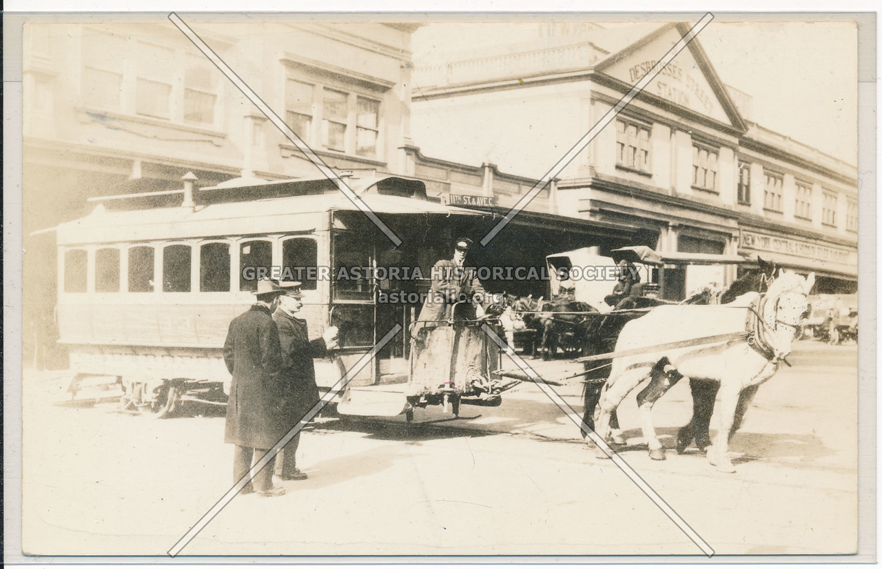 31 Debrosses St Station, NYC & Harlem River RR Horse Car,  11th St & Ave. C, NYC