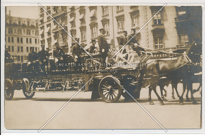 Horse-Drawn Fire Engine and the New York City Fire Brigade