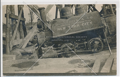 Construction locomotive accident, NYC
