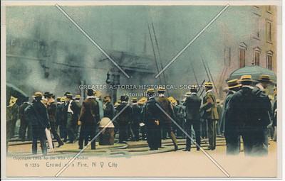 Crowd at a Fire in New York City
