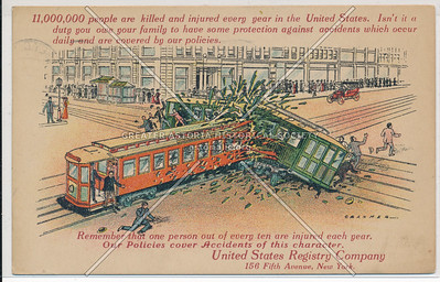 United States Registry Company Insurance Advertisement, NYC