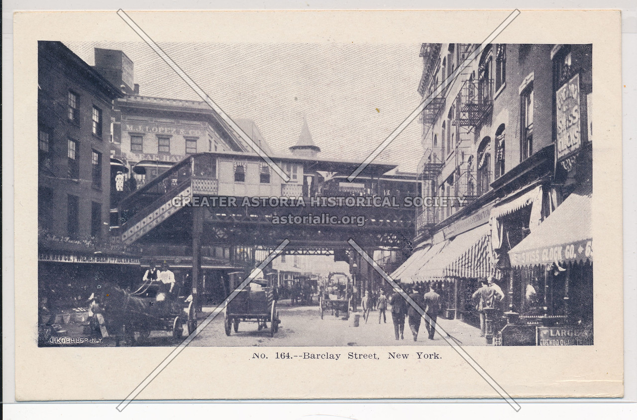 Barclay Street with Subway Station, NYC