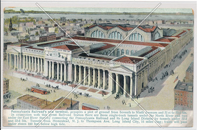 Pennsylvania Railroad's New Terminal in New York City