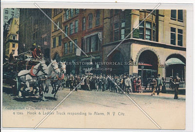Hook and Ladder Truck Responding to Alarm in New York City