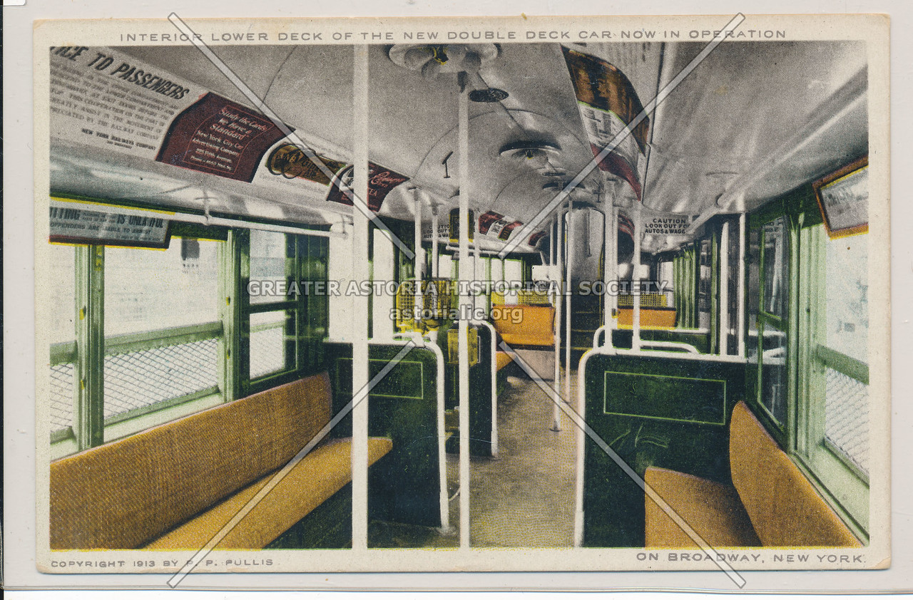 Interior Lower Deck of the Double Deck Car, NYC
