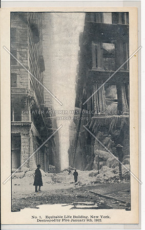 Equitable Life Building, Destroyed by Fire, NYC
