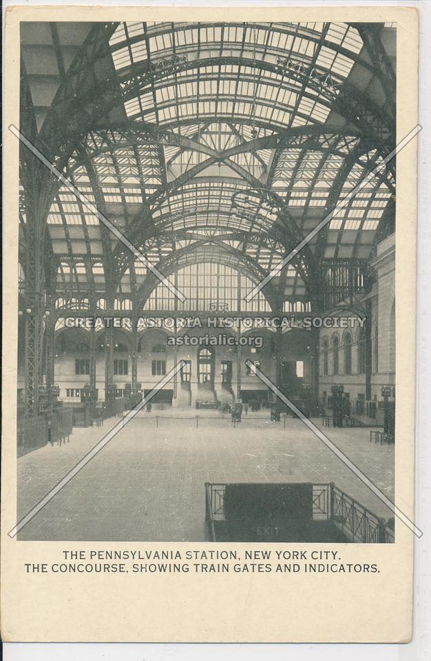 The Concourse, Showing Train Gates and Indicators, The Pennsylvania Station, NYC