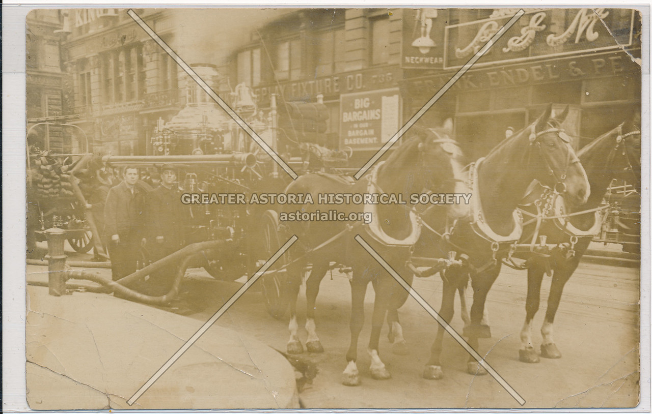Horse-Drawn Fire Brigade, New York City