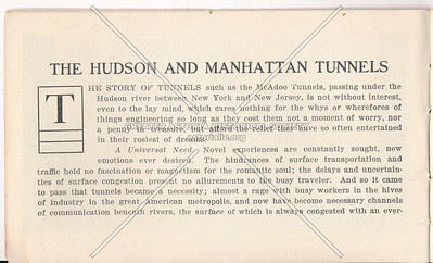 McAdoo Hudson and Manhattan Tunnels Pamphlet