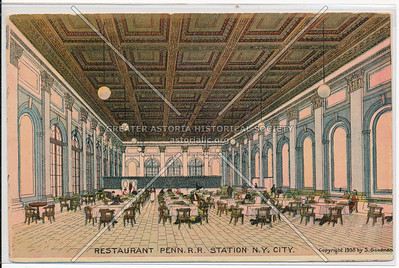 Restaurant at Pennsylvania Railroad Station, NYC