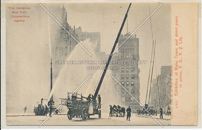 Exhibition of Water Tower and Street Pipes in Action, Fire Department of New York City