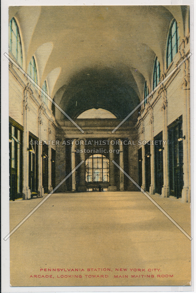 Pennsylvania Station Arcade, Looking Toward Main Writing Room, New York City