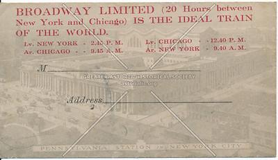Broadway Limited Train Advertisement