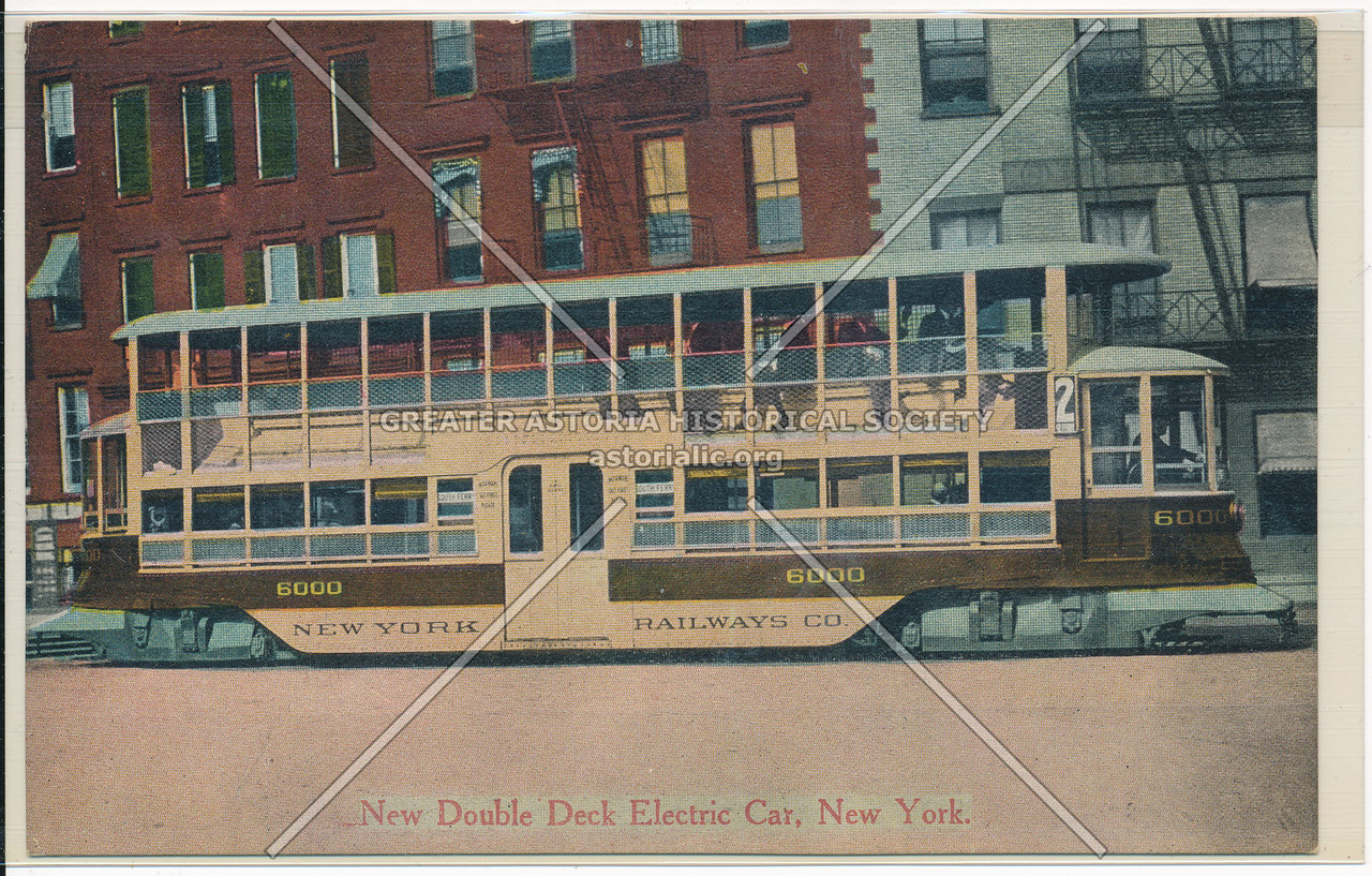 New Double-Deck Electric Car, New York City