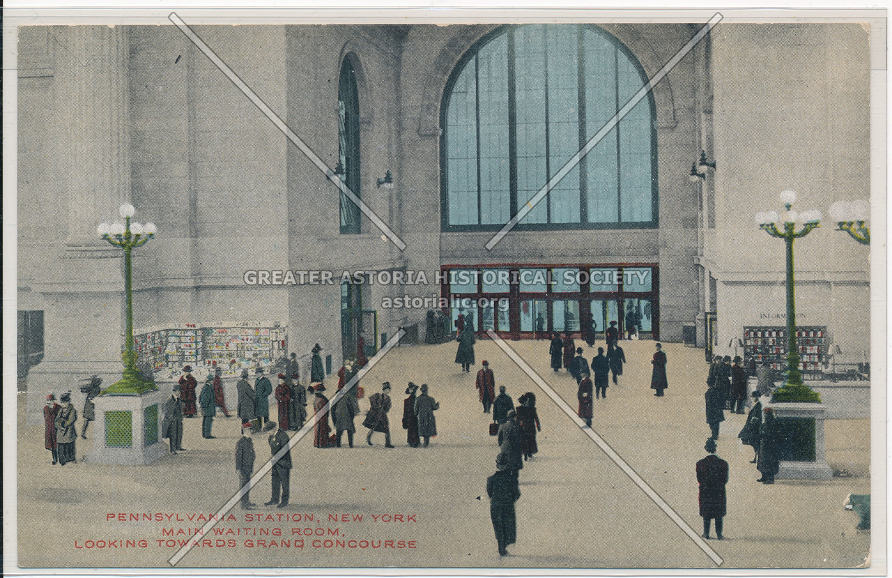 Main Waiting Room, Looking Towards Grand Concourse, Pennsylvania Station, NYC