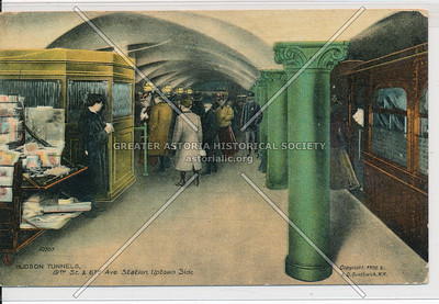 Hudson Tunnels, 19th Street and 6th Avenue Station, Uptown Side, NYC