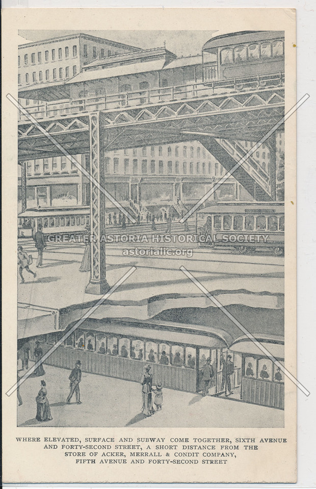 6th Avenue and 42nd Street: Where Elevated, Surface, and Subway Come Together