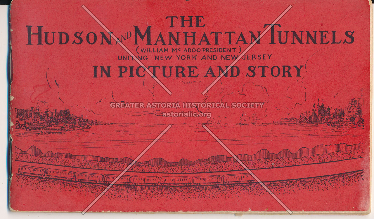 """The Hudson and Manhattan Tunnels Red """"In Picture and Story"""" Card"""