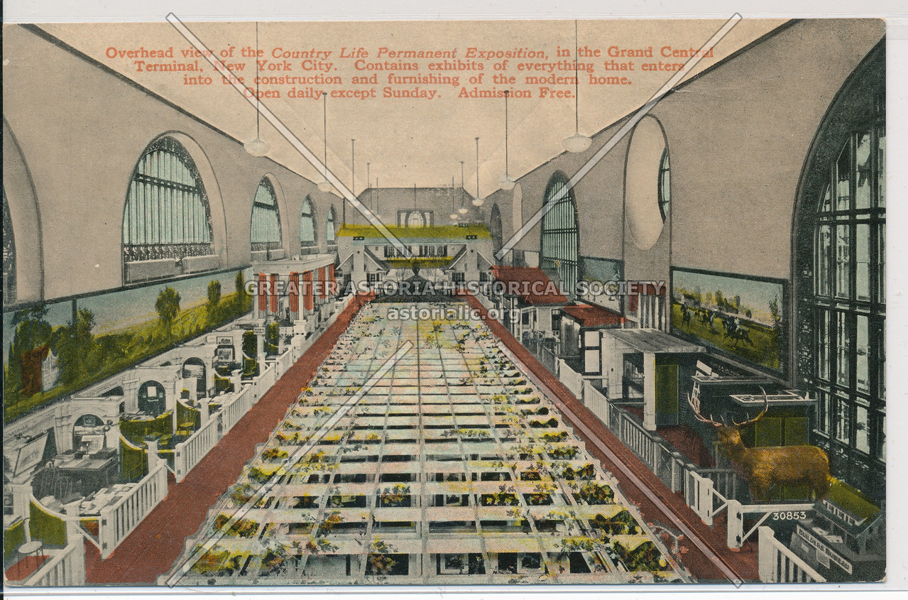 Overhead View of the Country Life Permanent Exposition in the Grand Central Terminal, NYC