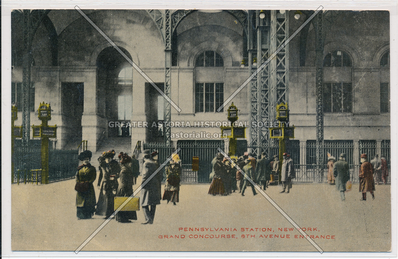 Pennsylvania Station Grand Concourse, 8th Avenue Entrance, NYC